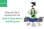 Tiếng Anh lớp 9 – Unit 3: Teen Stress and Pressure – Học Hay