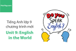 Tiếng Anh lớp 9 – Unit 9: English in the World – Học Hay