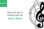 Tiếng Anh lớp 10 – Unit 3: Music – Học Hay