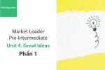 Sách Market Leader Pre-intermediate – Unit 4: Great Ideas – Học Hay (Phần 1)