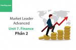 Sách Market Leader Advanced – Unit 7: Finance – Tiếng anh thương mại – Học Hay (Phần 2)