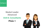 Sách Market Leader Advanced – Unit 8: Consultants – Học Hay (Phần 1)