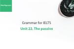 Sách Ngữ pháp tiếng anh luyện thi IELTS – Unit 22: Câu bị động (The passive) – Học Hay