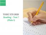 Sách Luyện thi ETS TOEIC 2020 - Test 7: Reading (Phần 1) – Học Hay