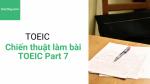 Chiến thuật làm bài TOEIC Phần 7 (Part 7) - Hochay