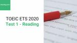 Sách Luyện thi ETS TOEIC 2020 - Test 1: Reading – Học Hay