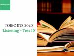 Sách Luyện thi ETS TOEIC 2020 - Test 10: Listening - Học Hay