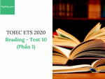 Sách Luyện thi ETS TOEIC 2020 - Test 10: Reading (Phần 1) - Học Hay