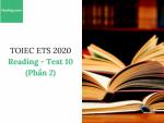 Sách Luyện thi ETS TOEIC 2020 - Test 10: Reading (Phần 2) - Học Hay