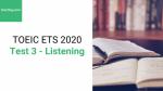 Sách Luyện thi ETS TOEIC 2020 - Test 3: Listening - Học Hay