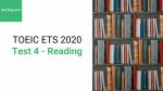 Sách Luyện thi ETS TOEIC 2020 - Test 4: Reading – Học Hay