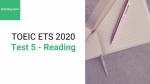 Sách Luyện thi ETS TOEIC 2020 - Test 5: Reading – Học Hay