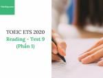 Sách Luyện thi ETS TOEIC 2020 - Test 9: Reading (Phần 1) – Học Hay