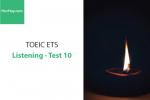 Sách Luyện thi ETS TOEIC – Test 10: Listening – Học Hay