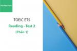 Sách Luyện thi ETS TOEIC – Test 2: Reading (Phần 1) – Học Hay