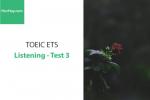 Sách Luyện thi ETS TOEIC – Test 3: Listening – Học Hay