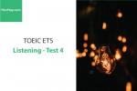 Sách Luyện thi ETS TOEIC – Test 4: Listening – Học Hay