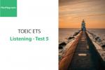 Sách Luyện thi ETS TOEIC – Test 5: Listening – Học Hay