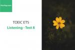 Sách Luyện thi ETS TOEIC – Test 8: Listening – Học Hay