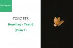 Sách Luyện thi ETS TOEIC – Test 8: Reading (Phần 1) – Học Hay