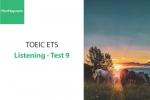 Sách Luyện thi ETS TOEIC – Test 9: Listening – Học Hay