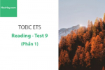 Sách Luyện thi ETS TOEIC – Test 9: Reading (Phần 1) – Học Hay