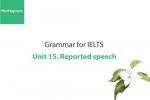 Sách Ngữ pháp tiếng anh luyện thi IELTS – Unit 15: Câu tường thuật (Reported speech) – Học Hay