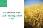 Sách Ngữ pháp tiếng anh luyện thi TOEIC – Unit 106: Giới từ đi với tính từ – Học Hay