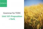 Sách Ngữ pháp tiếng anh luyện thi TOEIC – Unit 107: Giới từ đi với động từ – Học Hay