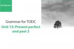 Sách Ngữ pháp tiếng anh luyện thi TOEIC – Unit 13: Hiện tại hoàn thành và quá khứ đơn 2 – Học Hay