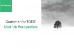 Sách Ngữ pháp tiếng anh luyện thi TOEIC – Unit 14: Quá khứ hoàn thành – Học Hay