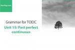 Sách Ngữ pháp tiếng anh luyện thi TOEIC – Unit 15: Quá khứ hoàn thành tiếp diễn – Học Hay