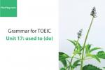 Sách Ngữ pháp tiếng anh luyện thi TOEIC – Unit 17: used to – Học Hay