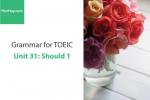 Sách Ngữ pháp tiếng anh luyện thi TOEIC – Unit 31: Should 1 – Học Hay