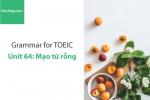 Sách Ngữ pháp tiếng anh luyện thi TOEIC – Unit 64: Mạo từ rỗng – Học Hay