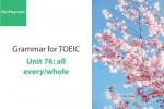 Sách Ngữ pháp tiếng anh luyện thi TOEIC – Unit 76: all/every/whole – Học Hay