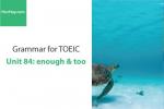 Sách Ngữ pháp tiếng anh luyện thi TOEIC – Unit 84: Enough & too – Học Hay