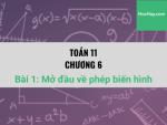 Toán 11 - Chương 6 - Bài 1: Mở đầu về phép biến hình - Học hay