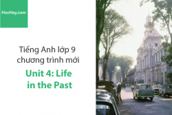 Tiếng Anh lớp 9 – Unit 4: Life in the Past – Học Hay