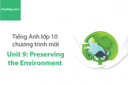 Tiếng Anh lớp 10 – Unit 9: Preserving the Environment – Học Hay