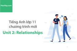 Tiếng Anh lớp 11 – Unit 2: Relationships – Học Hay