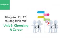 Tiếng Anh lớp 12 – Unit 9: Choosing a Career – Học Hay