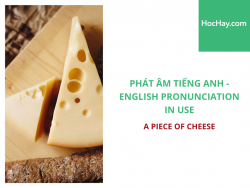 Phát âm tiếng Anh - English Pronunciation in Use Intermediate - A piece of cheese - Học Hay