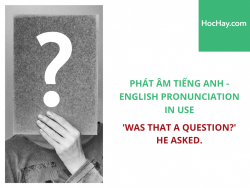 Phát âm tiếng Anh - English Pronunciation in Use Intermediate - 'Was that the question?' he asked. - Học Hay
