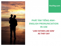 Phát âm tiếng Anh - English Pronunciation in Use Intermediate - 'Like father like son' as they say - Học Hay
