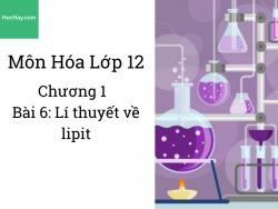 Hóa lớp 12 - Chương 1 - Bài 6: Lý thuyết về Lipit