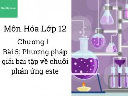 Hóa 12 - Chương 2 - Bài 5: Phương pháp giải bài tập về cellulose - HocHay