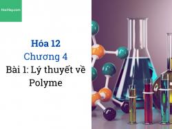 Hóa 12 - Chương 4 - Bài 1: Lý thuyết đại cương về Polyme - HocHay