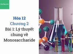 Hóa 12- Chương 2 - Bài 1: Lý thuyết chung về monosaccharide