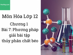 Hóa lớp 12 - Chương 1 - Bài 7: Bài tập thủy phân chất béo